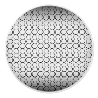 GRAY BUBBLES CERAMIC KNOB