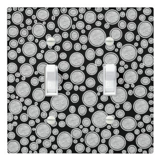 Gray Bubbles Light Switch Cover