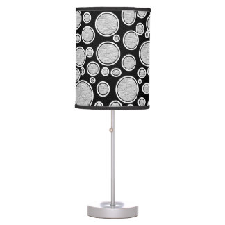Gray Bubbles Table Lamp