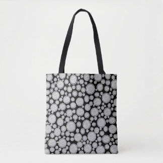 Gray Bubbles Tote Bag