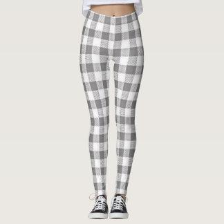 Gray-Buffalo-Check's-LEGGING'S_XS-XL Leggings