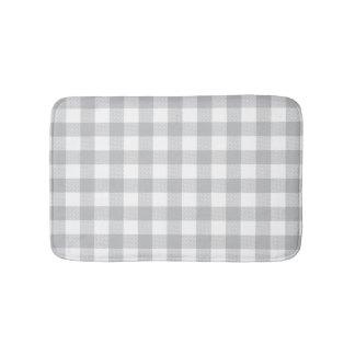 Gray Buffalo Plaid Checkered Pattern Rug