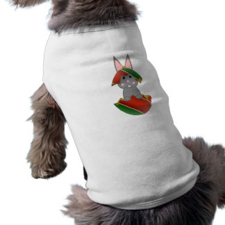 Gray Bunny In A Christmas Ornament Pet T Shirt