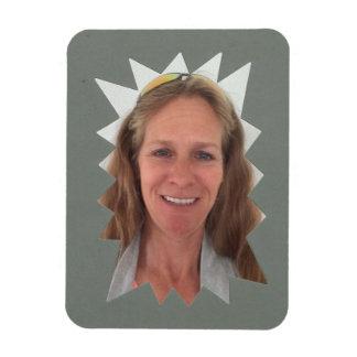 Gray Burst Photo Frame Magnet