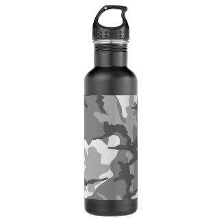 Gray Camo Steel 24 oz. water bottle