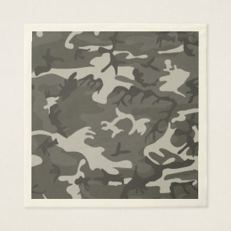 Gray Camouflage. Camo your Disposable Napkin