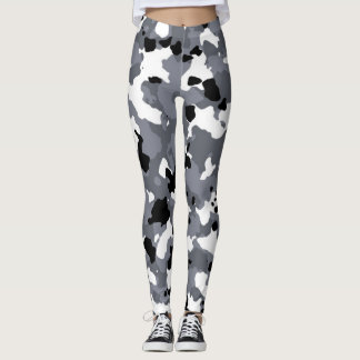 Gray Camouflage Custom Leggings