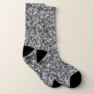 Gray Camouflage Large All-Over-Print Socks