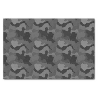 Gray Camouflage/Military Camo Tissue Paper