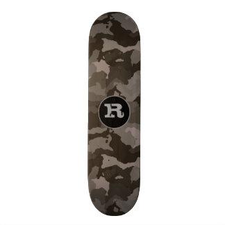 Gray Camouflage w/Monogram Skate Board Deck