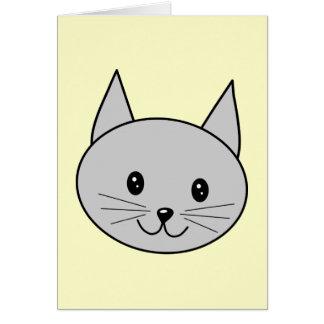 Gray Cat Cartoon. Card