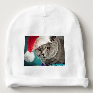 Gray cat christmas - Christmas cat -kitten cat Baby Beanie