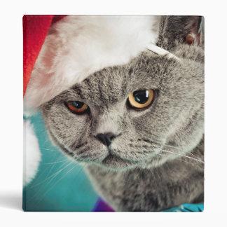 Gray cat christmas - Christmas cat -kitten cat Binder