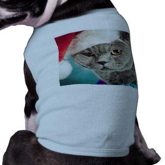 Gray cat christmas - Christmas cat -kitten cat Shirt