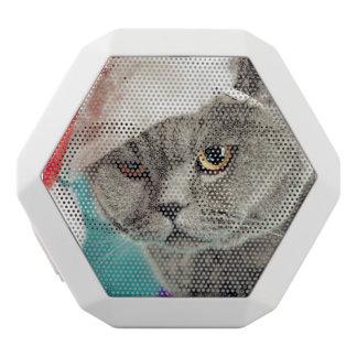 Gray cat christmas - Christmas cat -kitten cat White Bluetooth Speaker