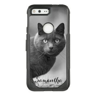 Gray Cat Google pixel case
