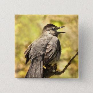 Gray Catbird Sings His Song Button