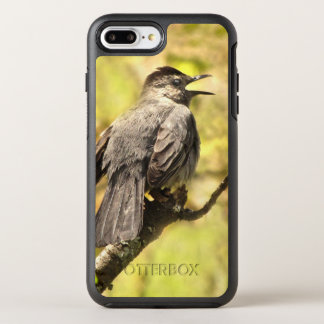 Gray Catbird Sings OtterBox iPhone 7 Plus Case