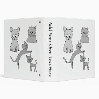 Gray Cats. 3 Ring Binders