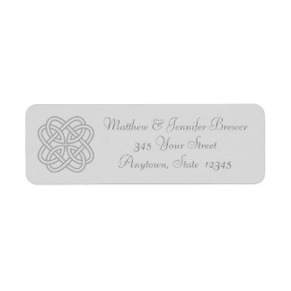 Gray Celtic Knot Thin Envelope Address Labels