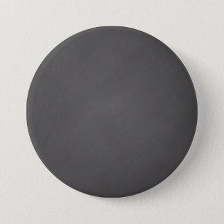 Gray Chalkboard Background Black Chalk Board 3 Inch Round Button