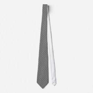 Gray Checkered Flag Tie