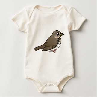 Gray-cheeked Thrush Baby Bodysuit