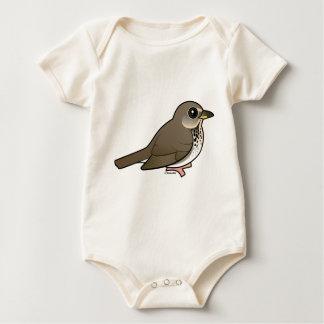 Gray-cheeked Thrush Baby Bodysuits