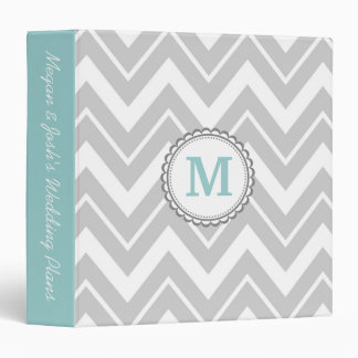 Gray Chevron Binders