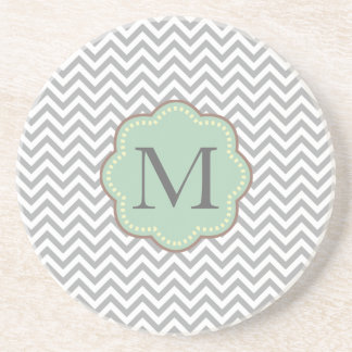 Gray Chevron Coaster