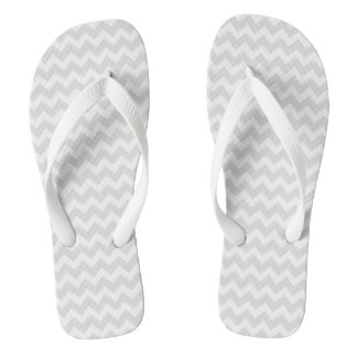 Gray Chevron Flip Flops