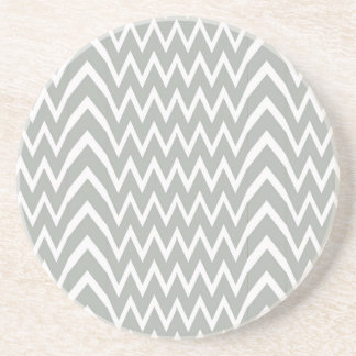 Gray Chevron Illusion Coaster