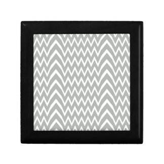 Gray Chevron Illusion Gift Box