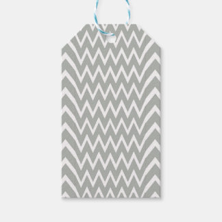 Gray Chevron Illusion Gift Tags