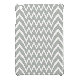 Gray Chevron Illusion iPad Mini Covers