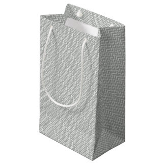 Gray Chevron Illusion Small Gift Bag