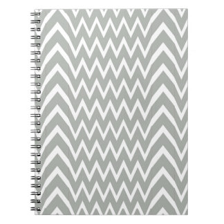 Gray Chevron Illusion Spiral Notebook