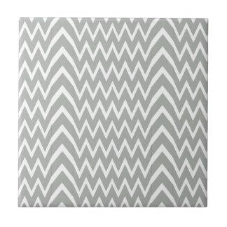 Gray Chevron Illusion Tile