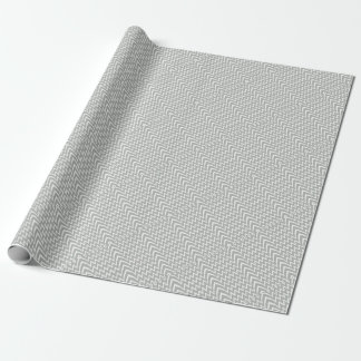 Gray Chevron Illusion Wrapping Paper