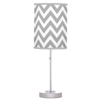 Gray Chevron Lamp