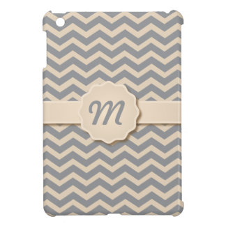 Gray Chevron Pattern iPad Mini Case