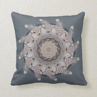 Gray Chickadee Pattern Pillow