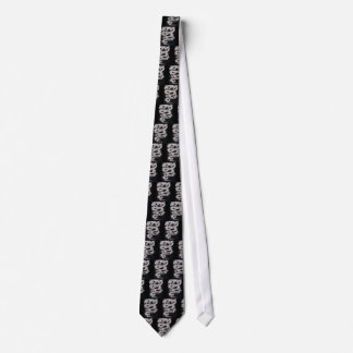 Gray Chinese Dragon Neck Tie