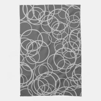 Gray Circles Kitchen Towel