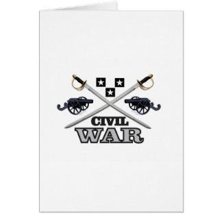 gray civil war cannons card
