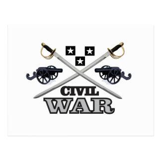 gray civil war cannons postcard