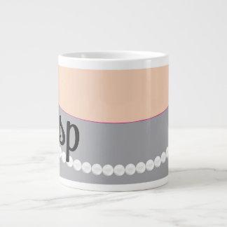 Gray Clutch Pearls and Gasp Jumbo Mug