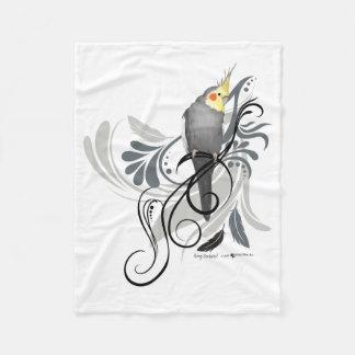 Gray Cockatiel Blanket