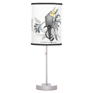 Gray Cockatiel Table Lamp