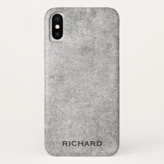 Gray concrete look rough grunge iPhone x case
